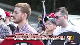 Five new felony charges for Charlottesville suspect - Video