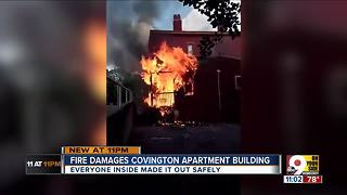 Two families displaced after Covington fire - Video