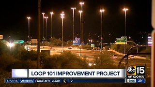 Loop 101 improvement project near I-17