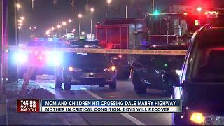 Mother, 2 children hit by car on S. Dale Mabry Highway