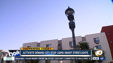 Activists want city of San Diego to end use of smart streetlights