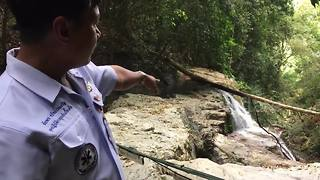 Tourist, 32, killed after falling 100ft down Thai waterfall - Video