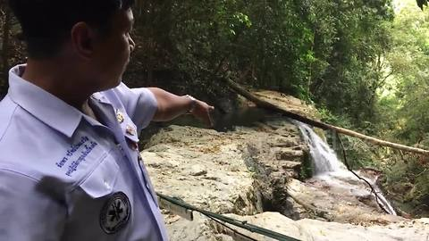 Tourist, 32, killed after falling 100ft down Thai waterfall