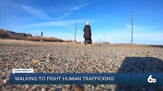 A woman walks across the country to help fight human trafficking