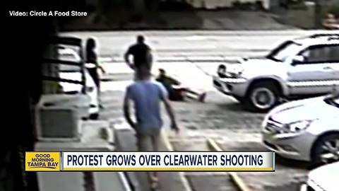 Protest grows over Clearwater shooting