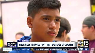 Free cell phones for some Valley high school students - Video