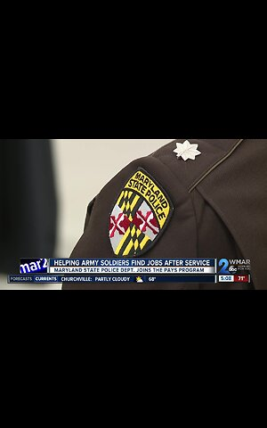 Maryland State Police partners with Army to give vets jobs