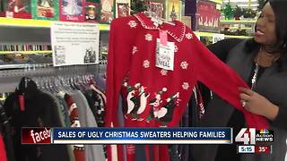 Ugly holiday sweaters help provide meals to homeless - Video