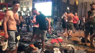Aftermath footage of stampede in Turin - Video