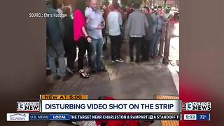 Disturbing video shows man groping woman on Las Vegas strip and few stop to help - Video