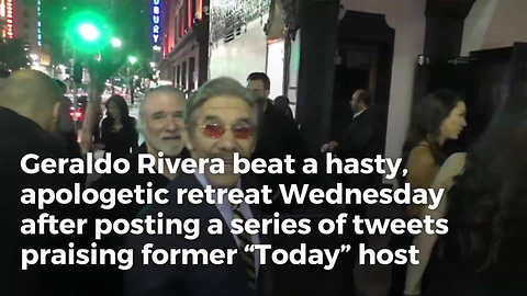 Geraldo Rivera Broke Silence On Matt Lauer, Immediately Forced To Apologize For What He Said