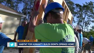 Habitat for Humanity builds Bonita Springs home - Video