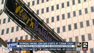 Looking for work? WorkBaltimore job fair looking to hire - Video