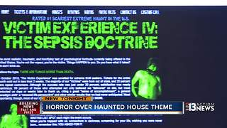 Haunted house theme causing controversy - Video