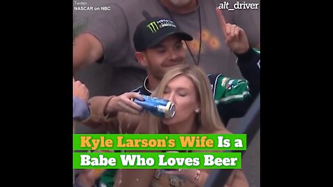 Kyle Larson's Wife Is a Babe Who Loves Beer
