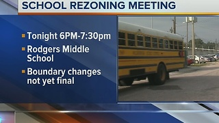 School rezoning meeting at Rodgers Middle School on Monday - Video