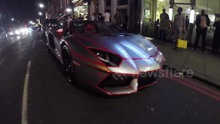 Tron inspired supercar spotted in Knightsbridge, London - Video