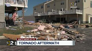 Clean up underway on Eastern Shore after EF-2 tornado - Video