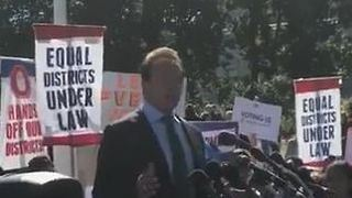 Schwarzenegger Joins Gerrymandering Protest at US Supreme Court - Video