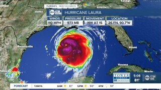 Laura 'rapidly strengthening' to Category 4 hurricane, winds up to 110 mph, NHC says
