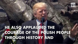 In Warsaw Speech, Trump Says Western Peoples Cry Out 'We Want God' - Video
