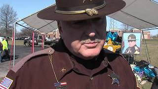 Sheriff Nielsen gives emotional interview at memorial for fallen deputy Jacob Pickett - Video