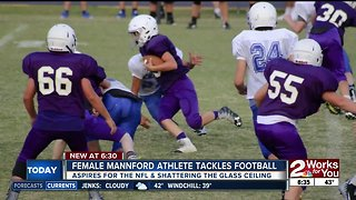 Mannford athlete has dreams of NFL as first female player