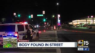 Man found dead in Phoenix intersection - Video