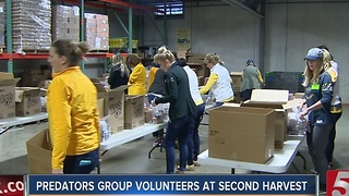 Predators Volunteer At 2nd Haravest Food Bank - Video