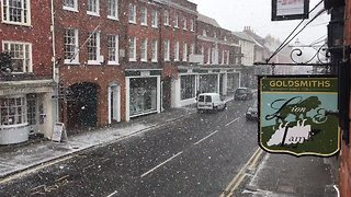 Snow Covers Streets in Surrey - Video