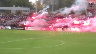 Ajax fans whip up a storm at training by bouncing up and down - Video
