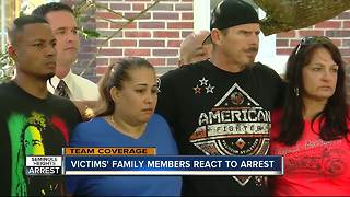 Victims' family members react to arrest - Video