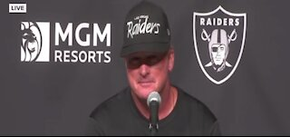 Coach Gruden responds to mask criticism during Vegas home opener