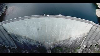 "Drone footage the famous ""Golden Eye"" dam - Video"