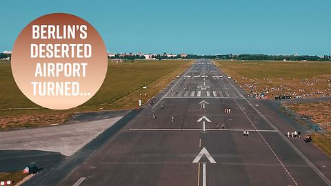When an airport runway becomes your playground