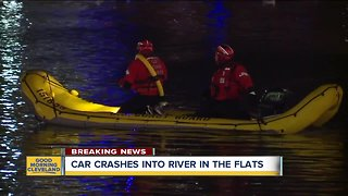 Rescue crews searching for truck in water