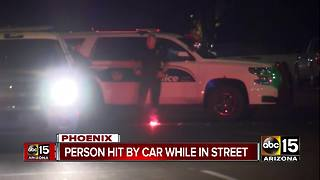 Pedestrian struck by car in Phoenix - Video