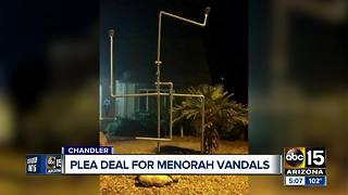 Teens plead guilty to vandalizing menorah in Chandler - Video