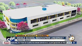 Construction begins on Pacific Beach Middle School upgrades