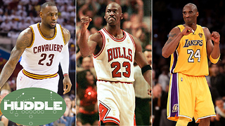 Michael Jordan Says LeBron James Has NOT Surpassed Kobe -The Huddle - Video