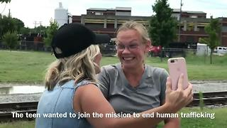 Teen Surprised By Christian Music Artist After 300 Mile Walk - Video