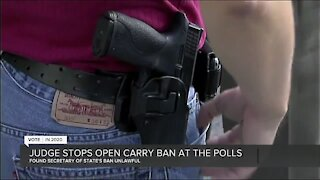 Judge stops open carry ban at the polls