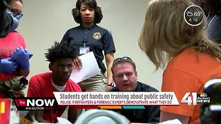 Students get hands on training about public safety - Video