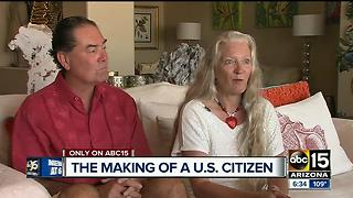 Woman officially becomes U.S. citizen 20 years later - Video