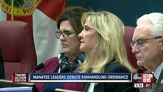 Manatee County commissioners discuss new panhandling proposal