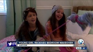 Jupiter girl receives bedroom makeover