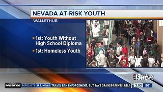 Nevada ranks 8th for most at-risk youth