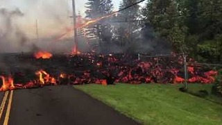 Lava Bursts From Fissures in Leilani Estates, Hawaii - Video