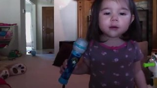 2-year-old singing Céline Dion is karaoke champion! - Video