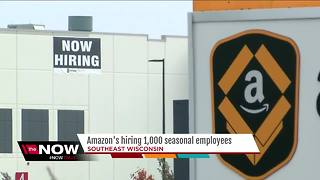 Amazon working to fill seasonal positions - Video
